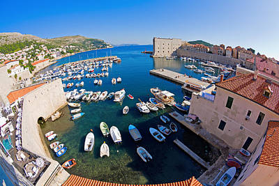 Photograph - Dubrovnik Harbor by Alexey Stiop