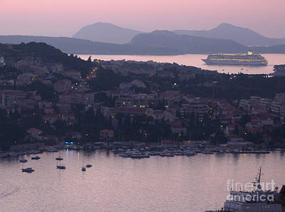 Photograph - Dubrovnik Harbour At Dusk by Phil Banks