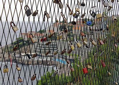 Photograph - Dubrovnik Love Locks by Tony Murtagh