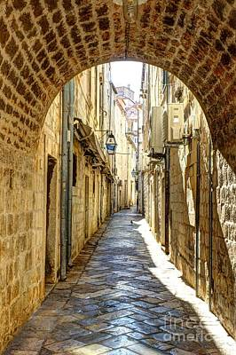 Photograph - Old City Walkway - Dubrovnik, Croatia by Crystal Nederman
