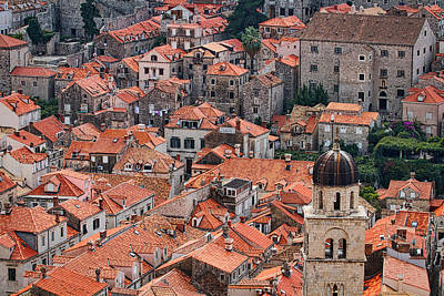 Photograph - Dubrovnik Rooftops by Stuart Litoff