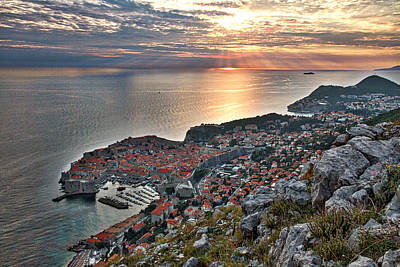 Photograph - Dubrovnik Sunset by Stuart Litoff
