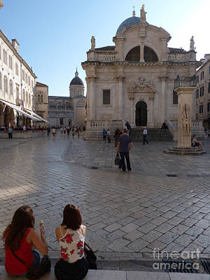 Photograph - Dubrovnik - Time To Relax by Phil Banks