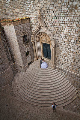 Photograph - Dubrovnik Wedding Portrait by Stuart Litoff