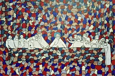 Painting - Dubuffet's Last Supper by Mario Perron