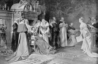 Cardinal Drawing - Duc De Richelieu (1585-1642) by Granger