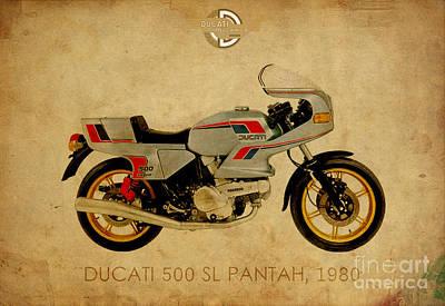 Ducati 500 Sl Pantah 1980 Art Print