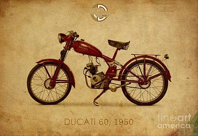 Digital Art - Ducati 60 1950 by Pablo Franchi
