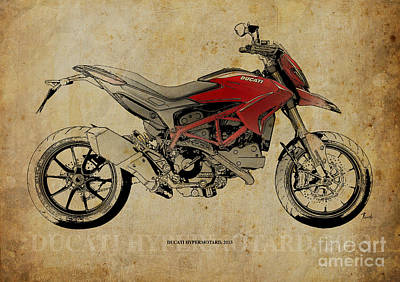 Art 2013 Digital Art - Ducati Hypermotard 2013 by Pablo Franchi