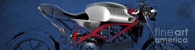 Giftideas Digital Art - Ducati by Pablo Franchi