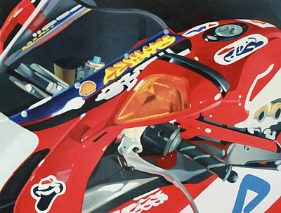 Motogp Painting - Ducati Racer by Guenevere Schwien
