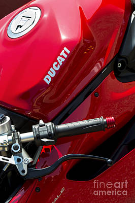 Photograph - Ducati Red by Tim Gainey