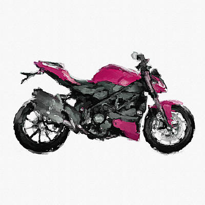 Ducati Streetfighrt 848 Hand Painted Digital Art Original
