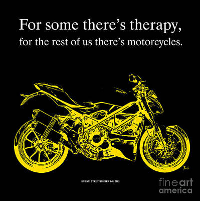 Drawing - Ducati Streetfighter 848 2012 - Quote by Pablo Franchi