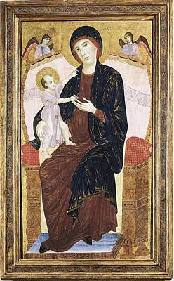 Bambino Photograph - Duccio Di Buoninsegna 1255-1318. Virgin by Everett