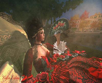 Aristocrat Digital Art - Duchess Du Coeur by Kylie Sabra