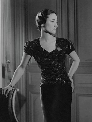 Duchess Of Windsor At Hotel Meurice Art Print by Horst P. Horst
