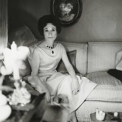 Duchess Photograph - Duchess Of Windsor In Her Paris Home by Horst P. Horst