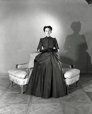 Duchess Photograph - Duchess Of Windsor In Mainbocher Gown by Horst P. Horst