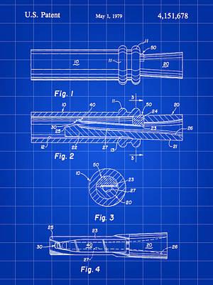Duck Call Patent 1979 - Blue Art Print
