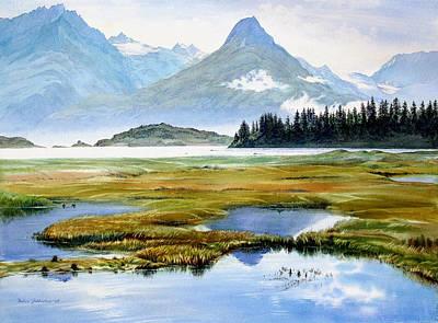 Ducks In Watercolor Painting - Duck Flats Valdez by Vladimir Zhikhartsev