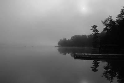 Duck Harbor Early Morning Fog Art Print by Patsy Zedar