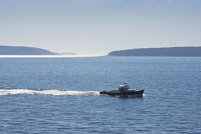 Photograph - Duck Islands -lobster Boat - Acadia National Park - Maine by Keith Webber Jr