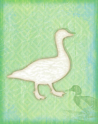 Spring Painting - Duck by Jennifer Pugh