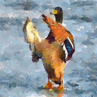 House Pet Digital Art - Duck Orchestra by Yury Malkov