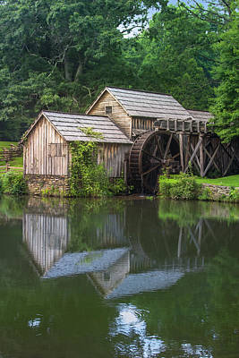 Photograph - Duck Pond At Mabry Mill by Mary Almond