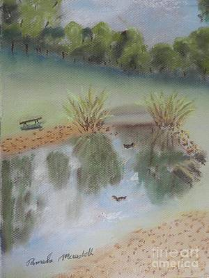Painting - Duck Pond At Wollongong Uni by Pamela  Meredith