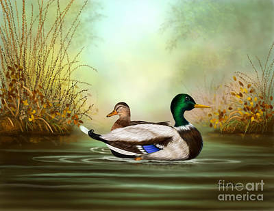 Painting - Duck Retreat by Sena Wilson