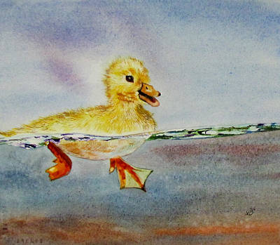 Painting - Duck To Water by Susan Duxter