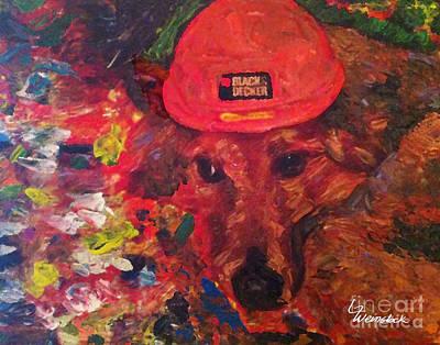 Art Print featuring the painting Alameda Radar  by Linda Weinstock