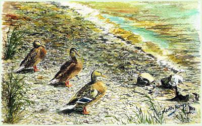 Wall Art - Painting - Duck Walk by C Keith Jones