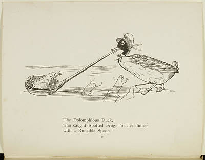 Edition Photograph - Duck With Runcible Spoon by British Library