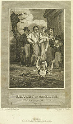 Defoe Photograph - Ducking A Witch by British Library