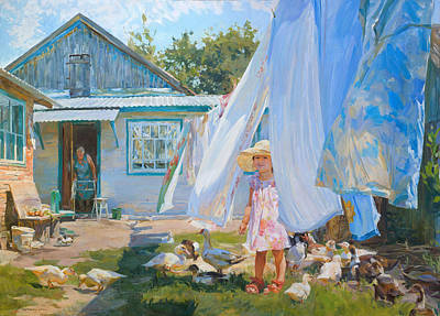 Ducklings Grow Original by Victoria Kharchenko