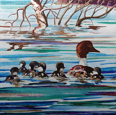 Painting - Ducks In A Row by Terry Holliday