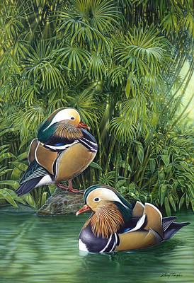 Ducks Art Print by Larry Taugher