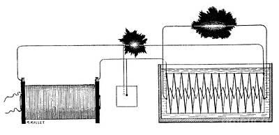 Oil Break Key Photograph - Ducretet Apparatus, 19th Century by Spl