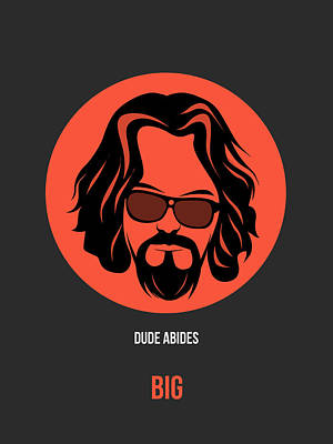Big Lebowski Digital Art - Dude Poster 1 by Naxart Studio