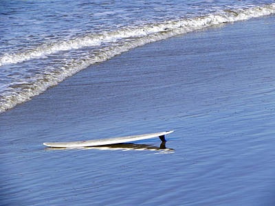 Art Print featuring the photograph Dude Where Is My Surfer by Kathy Churchman