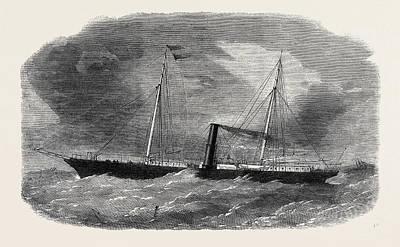 Dudgeons New Double Screw Iron Steamship Flora 1862 Art Print