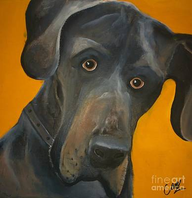 Painting - Dudley The Dog by Caroline Peacock