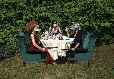 Multiple Personalities Digital Art - Duel At High Tea by Falon Barnes