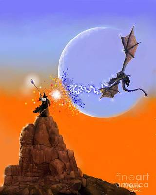 Digital Art - Duel In The Desert by Rick Mittelstedt