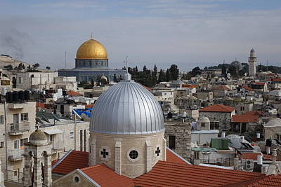 Dueling Faith In Jerusalem Art Print