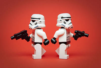 Figure Photograph - Dueling Troopers by Samuel Whitton