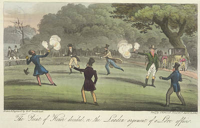 Duelling Art Print by British Library